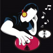 An incredible DJ — Stock Vector #35218929