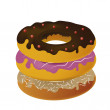 Stock Vector: A pile of donuts