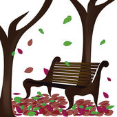 Trees in autumn — Stock Vector