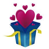 Heart as a present — Stock Vector
