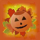 Pumpkin resting in halloween — Stock Vector