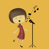 Singing to the world — Stock Vector