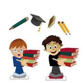 Kids going to school — Stock Vector