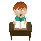 Leyendo un libro — Vector de stock