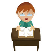 Läsa en bok — Stockvektor