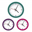 Colored clocks — Stock Vector #35220201