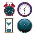 Colored clocks — Stock Vector