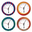 Vettoriale Stock : Four clocks