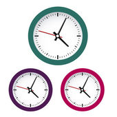 Colored clocks — Vector de stock