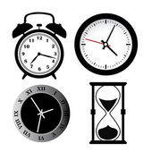 Four silhouettes of time — Stock Vector
