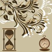 Evolution clock — Stock Vector