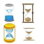 Four sand clocks — Stock Vector