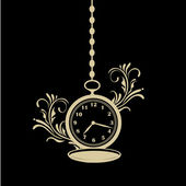 Horloge de poche avec texture — Vecteur
