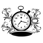 Pocket clock with star — Stockvector