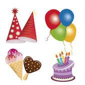 Icons for happy birthday — Stockvektor