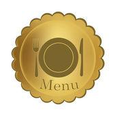 Golden menu — Stock Vector