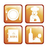 Four icons for menu — Stock Vector