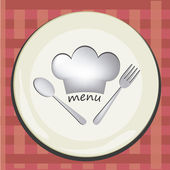 Dishes menu — 图库矢量图片