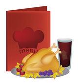 美味的鸡 — 图库矢量图片