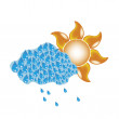 Cloud and sun — Stock Vector