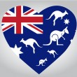 Australia heart — Stock Vector