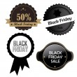 Black friday's icons — Stock Vector