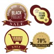 Stock Vector: Black friday's icons