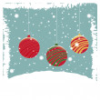 Three christmas balls — Image vectorielle