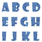 Lettres bleues — Vecteur