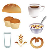 Icons for breakfast — Stock Vector