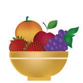 Fruit breakfast — Stock Vector