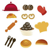 Bakery items — Stock Vector