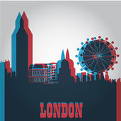 Colored london — Stock Vector
