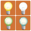 lightbulbs — Stock Vector