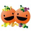 Happy pumpkins for halloween — Image vectorielle