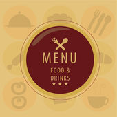 Red menu icon — Stock Vector