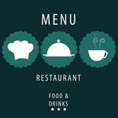 Blue menu design — Stock Vector