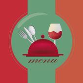 Diseño del menú color — Vector de stock