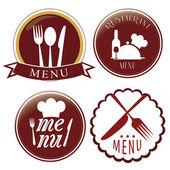 Four menu icons — Stock Vector