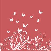 Butterflies and branches — Vetor de Stock