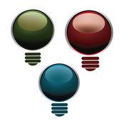 Цветные лампочки — Cтоковый вектор