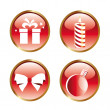 Four red icons — Stock Vector