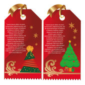 Cards for christmas — Stock Vector