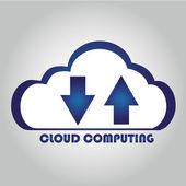Bulut bilgisayar — Stok Vektör