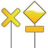 Two yellow signals — Stockvector