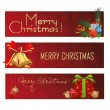 Merry christmas' banners — Stock Vector