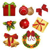 Christmas items — Stock Vector
