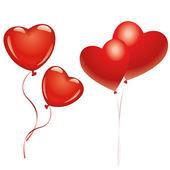 Ballonnen en harten — Stockvector