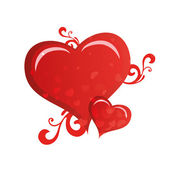 Güzel kalpler — Stok Vektör
