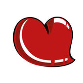 Comic heart — Vettoriale Stock